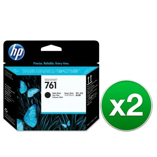 HP 761 Matte Black Designjet Printhead (CH648A)(2-Pack)