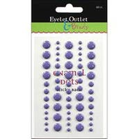 Purple - Eyelet Outlet Adhesive-Back Enamel Dot 60/Pkg