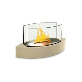 Lexington (High Gloss Beige) Table Top Bio Ethanol Ventless Fireplace