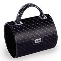 """5"""" Fashion Avenue Chic Quilted Classic Ceramic Handbag Mug - Black"""