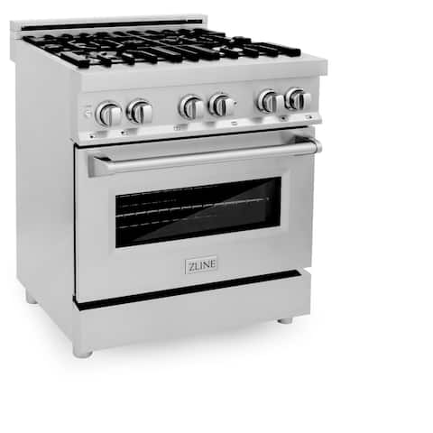 """ZLINE 30"""" Professional Dual Fuel Oven Range in Stainless Steel"""