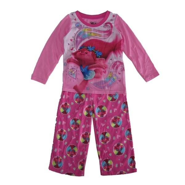 2d94f094a6 Dreamwave Little Girls Pink Trolls Print Long Sleeved 2 Pc Pajama Set
