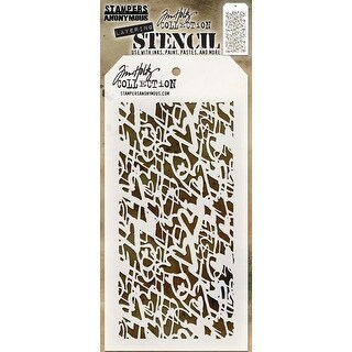 "Tim Holtz Layered Stencil 4.125""X8.5""-Heartstruck"