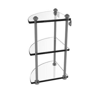 Allied Brass Southbeach Collection Three Tier Corner Glass Shelf