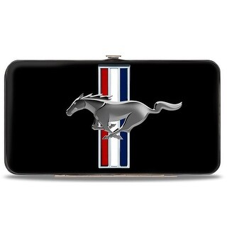 Ford Mustang W Bars Logo Centered Hinged Wallet - One Size Fits most