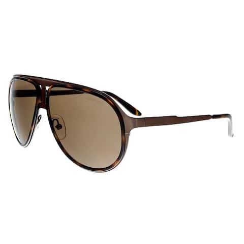 55c5b46fce Carrera 100 S 0HKY EJ Brown Havana Bw Aviator Sunglasses - 59-12-