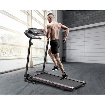TiramisuBest Folding Electric Treadmill for Home,3 Manual inclines