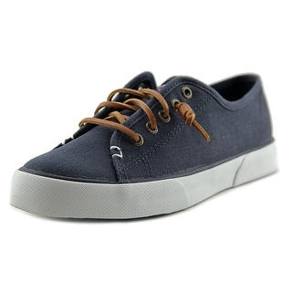 Sperry Top Sider Pier View Core Women Round Toe Canvas Blue Sneakers