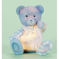 "6"" ""Cute and Cuddly"" New Baby Boy Children's Blue Bear Night Light"