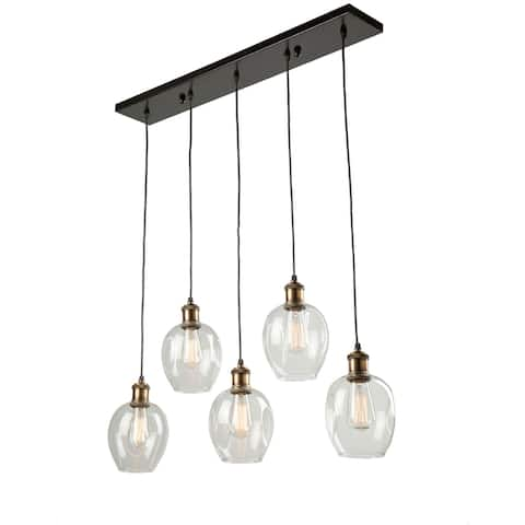 Artistry lighting Six Light Chandelier Distressed Pine - Exact Size