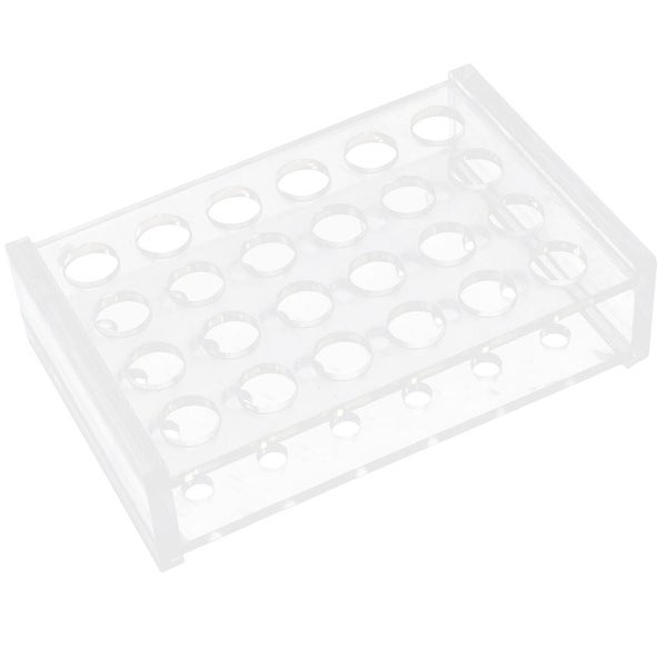 Unique Bargains 2 Layers 1.5ml Centrifuge Tubes Tubing Holder Rack Stand Organizer Clear