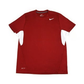 Nike Men's Red/White Dri-FIT Tee Shirt, Large
