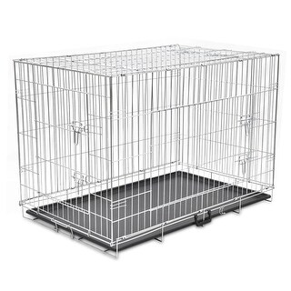vidaXL Foldable Metal Dog Bench XXL
