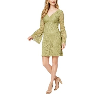 Betsey Johnson Womens Cocktail Dress Lace Bell Sleeves