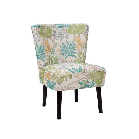 Penelope Armless Abstract Patterned Transitional Accent Chair