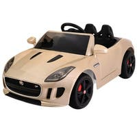 Jaguar F-TYPE 12V Battery Power Kids Ride On Car Licensed MP3 RC Remote Control - GOLD