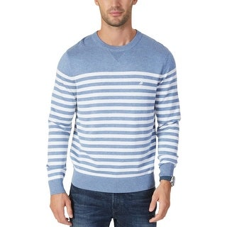 Nautica Mens Crewneck Sweater Knit Stripe
