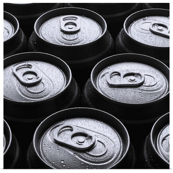 """""""Eleven wet beer cans outdoors"""" Poster Print"""