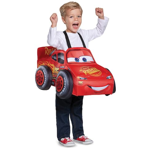 Disguise Lightning McQueen 3D Toddler Costume - One Size Fits Most