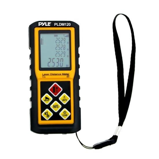 300 Ft. Handheld Laser Distance Meter with Calculation, Tool Backlit LCD Display, Direct / Indirect, Volume & Area Measuring