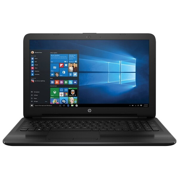 "Manufacturer Refurbished - HP 15-ay010ca 15.6"" Laptop Intel N3060 1.60GHz 4GB memory 500GB storage Win10"