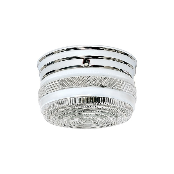 "Nuvo Lighting 77/101 2 Light 8"" Wide Flush Mount Ceiling Fixture"