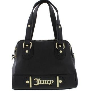 Juicy Couture Womens Loudspeaker Satchel Handbag Faux Leather Logo - MEDIUM