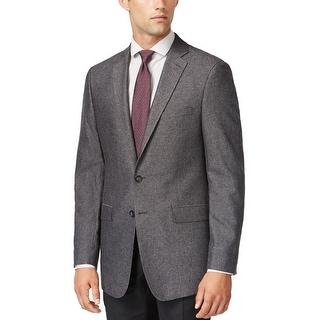Calvin Klein Slim Fit Med Grey Herringbone Two Button Sportcoat Blazer
