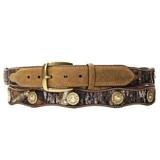 Nocona Western Belt Mens Leather Shotgun Shell Camo N24366222
