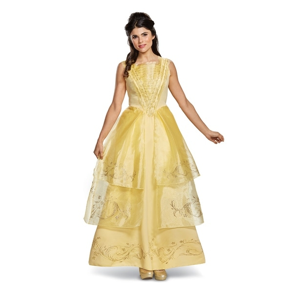 Womens Disney Belle Ball Gown Deluxe Costume - Free Shipping Today ...