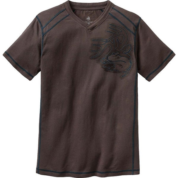 Legendary Whitetails Men's Timber Track V-Neck Signature Buck T-Shirt