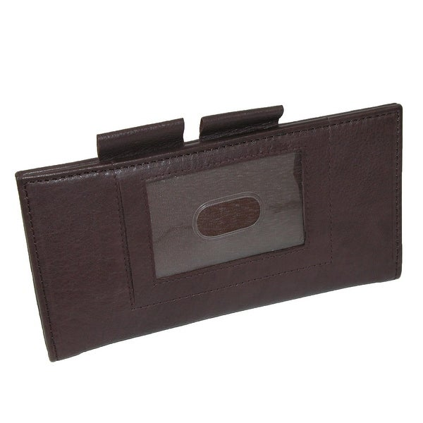 Paul & Taylor Leather ID Checkbook Cover and Card Holder - One size