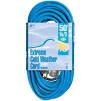 Coleman Cable 2628 Coldflex Extension Cord 15A x 50 Ft. Blue