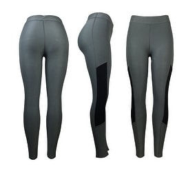 Women's Athletic Fitness Sports Yoga Pants Small-Medium/Grey-Black