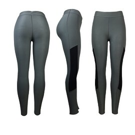 Women's Athletic Fitness Sports Yoga Pants Small-Medium/Grey-Black