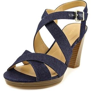 Alfani Palaria Women  Open Toe Canvas Blue Sandals