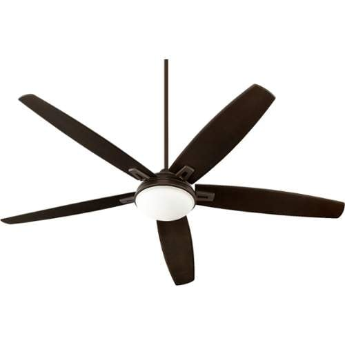 "Quorum International 81725 Vector 72"" 5 Blade Hanging Indoor Ceiling Fan with Reversible Motor, Blades, and Light Kit"