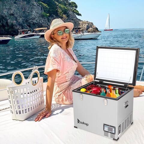 ZOKOP 1.47CU.FT/1.82CU.FT/2.1CU.FT Compressor Key Display Car Refrigerator