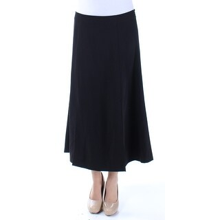 Womens Black Maxi A-Line Skirt Size 2