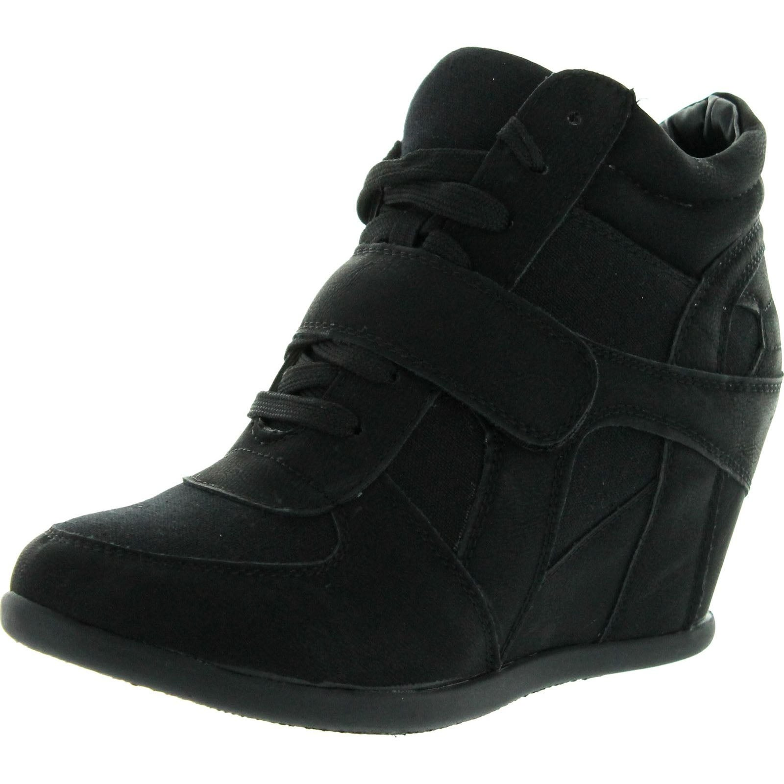 Strap Womens Hidden Wedge Sneaker Shoes