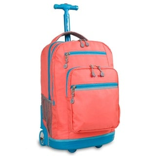 J World New York Sundance Rolling Backpack, Blush