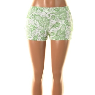 Zara Basic Womens Paisley High Waist Casual Shorts - XS