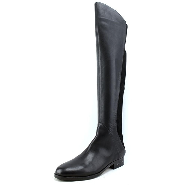 Carolinna Espinosa Corbin Women Round Toe Leather Black Over the Knee Boot