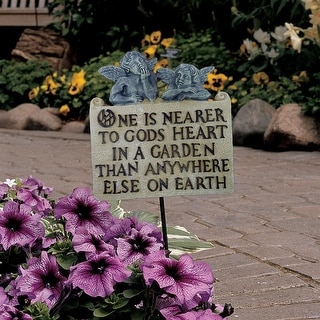 Design Toscano Raphaelian Angels Garden Ground Stake and Wall Plaque