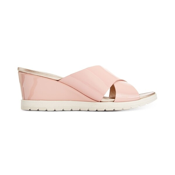 Easy Spirit Womens Hartlyn Leather Open Toe Casual Platform Sandals