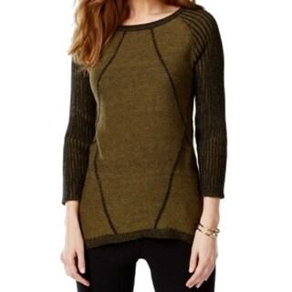 Cable & Gauge NEW Green Women's Size Medium M Hi-Lo Scoop Neck Sweater