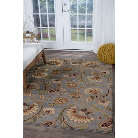 Alise Rugs Infinity Transitional Floral Area Rug