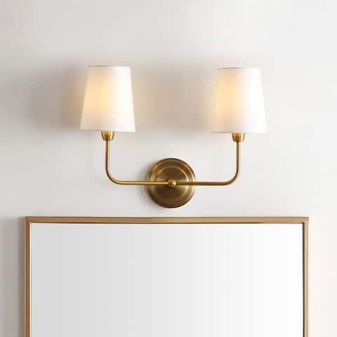 "SAFAVIEH Lighting Ezra 2-light Wall Sconce - 17.5""x7""x13.5"""