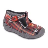 Befado Boys' Soccer Player T-Strap Slippers - brown/orange/red