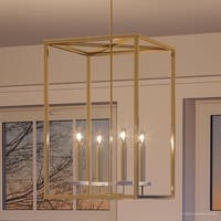 "Luxury Cosmopolitan Chandelier, 26.5""H x 15""W, with  Transitional Style, Palladian Gold Finish by Urban Ambiance"